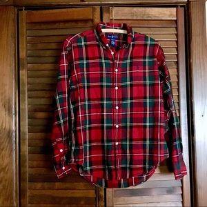 Ralph Lauren plaid red shirt buttondown boys large